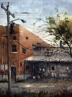 Tim Oliver - Alley Behind The Ritz (plein air)