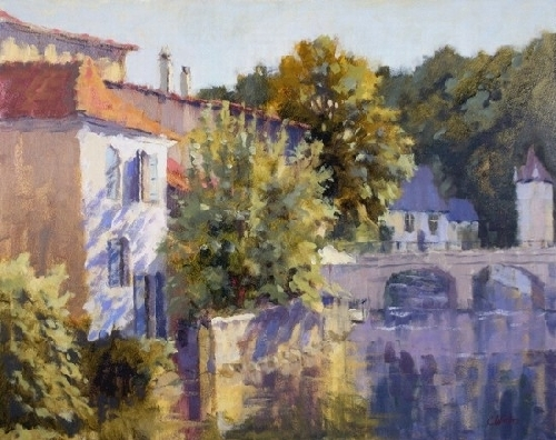 Connie Winters - Brantome at Dusk (giclee print)