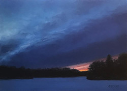 Danny O'Leary - Snowy Lake Sunset