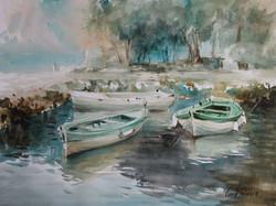 Lana Temina - Montenegro. Boats
