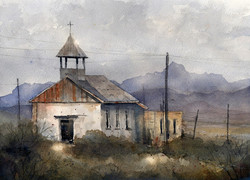Tim Oliver - St. Agnes of Terlingua (plein air)