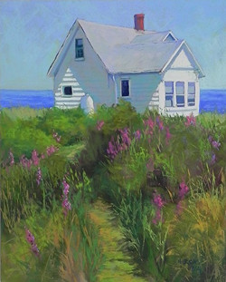 Jean Hirons - Shore House with Loosestrife