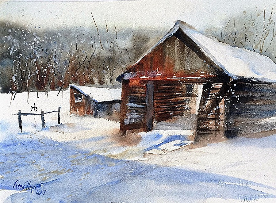 Lena Thynell - First Snow at Hodge Farm