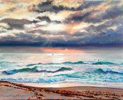 Ina Millman - Early Morning Catch (oil)