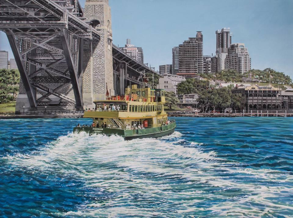 Freda Surgenor - Ferry Turning, Sydney Harbour