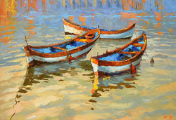 Dmitry Spiros - Boats in the Sunset