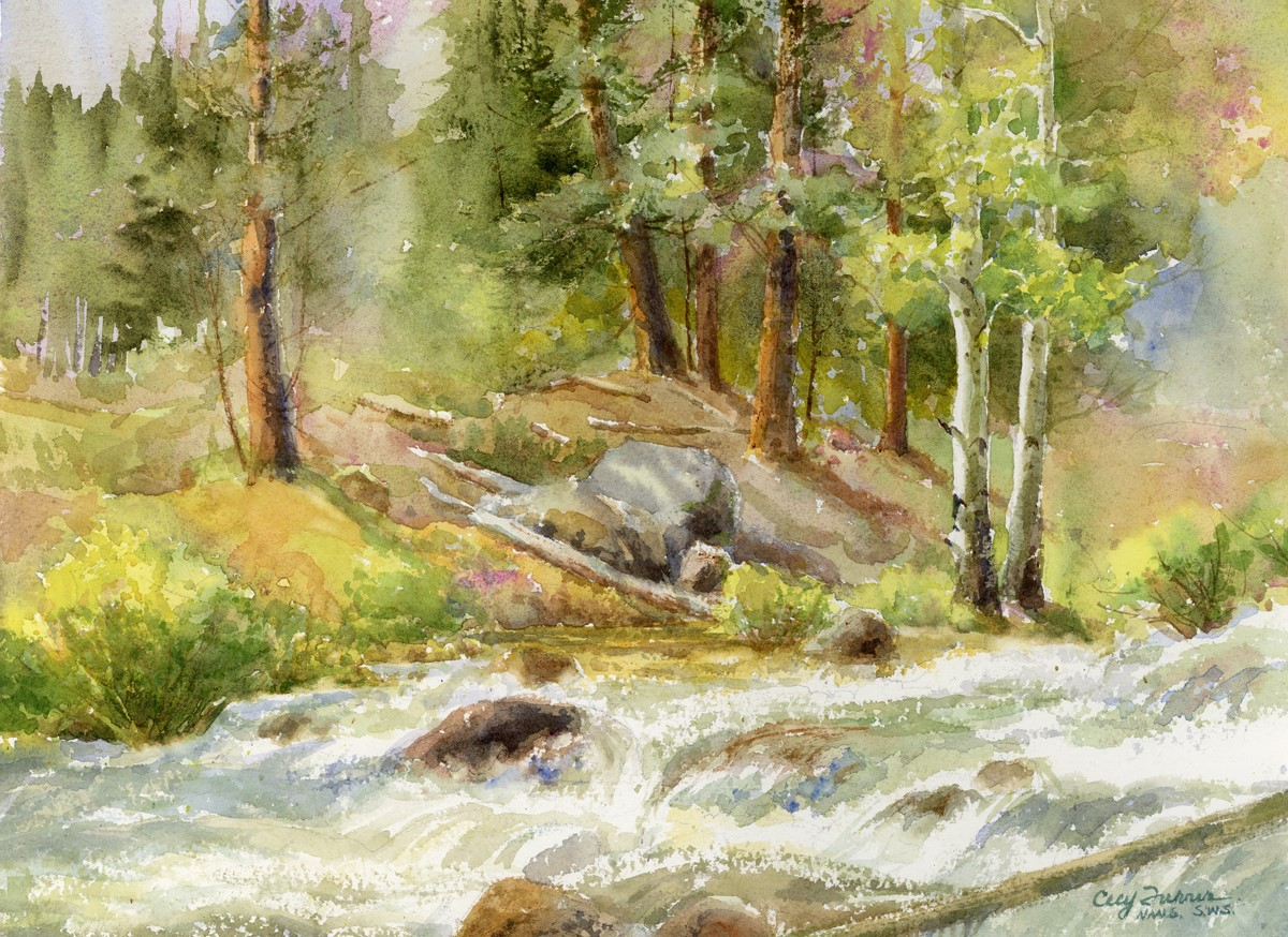 Cecy Turner - Hidden Gem Off Bear Lake Road (plein air watercolor)