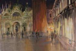 Lana Temina - Night in Venice (watercolor)