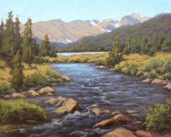 Janet Anderson - Afternoon Light at Long Lake