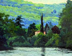 Nancy Paris Pruden - Across the Lake in France