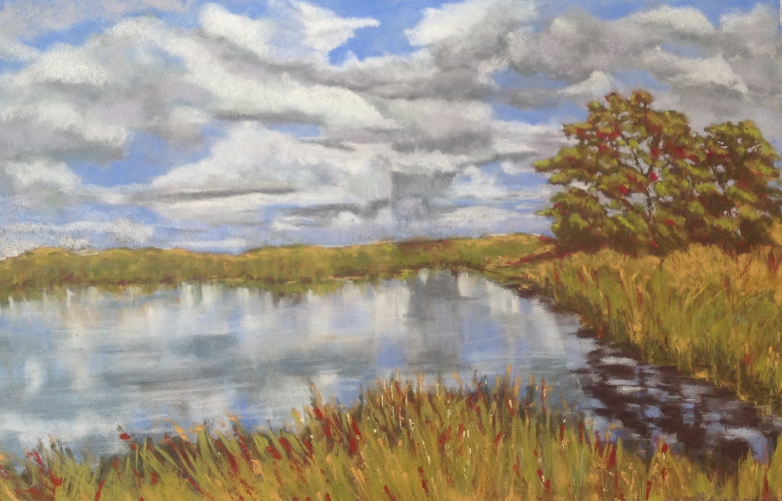Donna Theresa - Cloud and Marsh Study