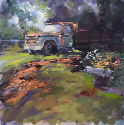 Dottie T. Leatherwood - Foggy Morning at the Farm