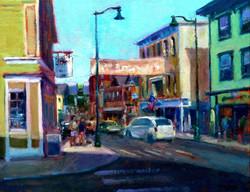 Blaney Harris - Downtown Mystic (plein air)