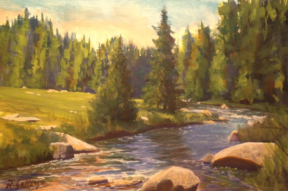 Richard E. Gallego - Roadside Creek, Tioga Pass, Eastern Sierra