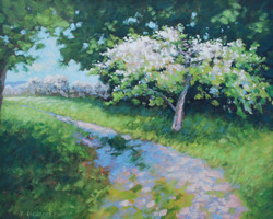 Cathy Lachance - Blooming Apple Orchard on the Island