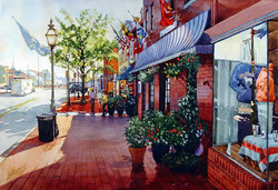 Mick Williams - Down to the Waterfront (watercolor)