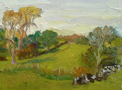 Georgie Rey - Cows in the Field, Bentley