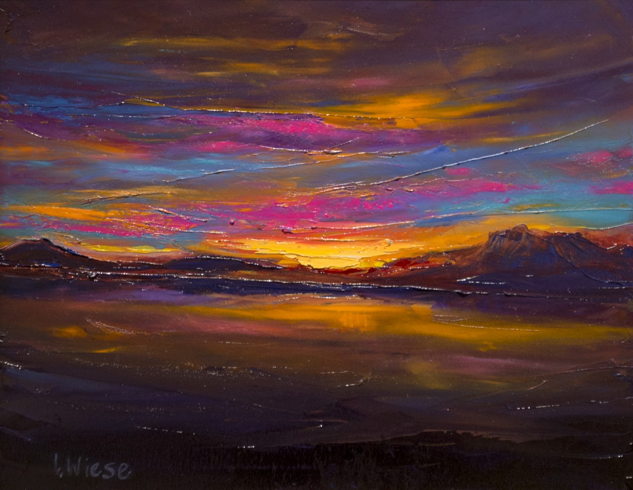 Lindy Wiese - Sunset Over the Mesas