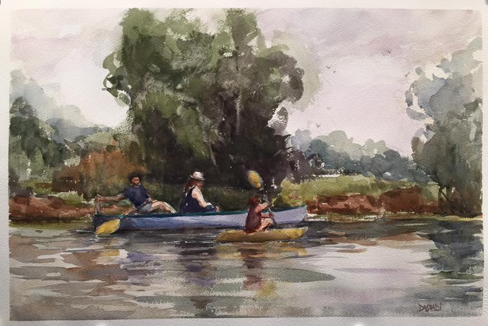 Joan DaGradi - Paddling on the Bayou, City Park