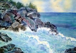Liz McGee - Rocks at Mohegan