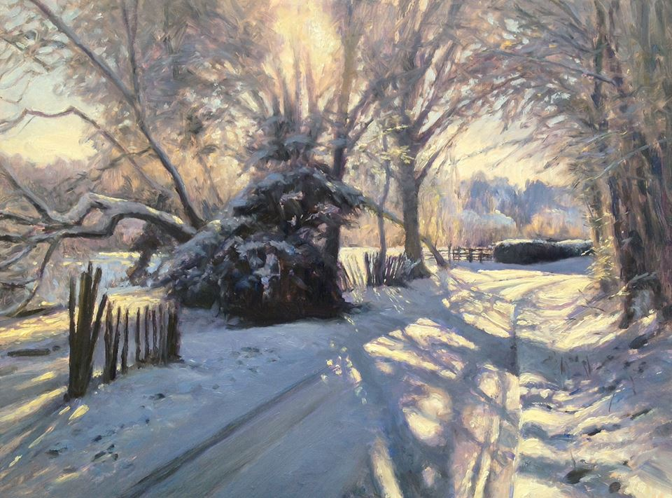 David Deamer - Snow in Church Lane