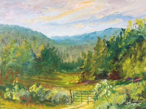Julia Norton Stevens - Apple Creek Farm Evening