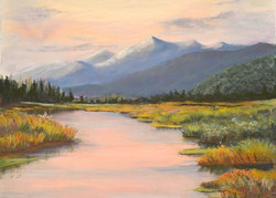 Susan Whiteman - Adirondack Sunset Pastel
