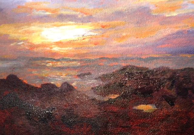 Annette D McGowan - Sunset at Asilomar