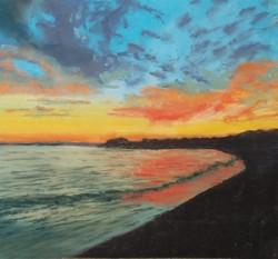 Jacquelyn Blue - Sunset Over Pt Dume, Malibu