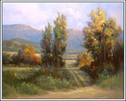 Alex Perez - Sunset Between Trees in Alhue (central Chile)