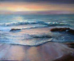 Ina Millman - Sunrise on the Beach (oil)