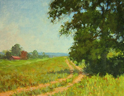 Ralph Parker - Virginia Farm (gouache)
