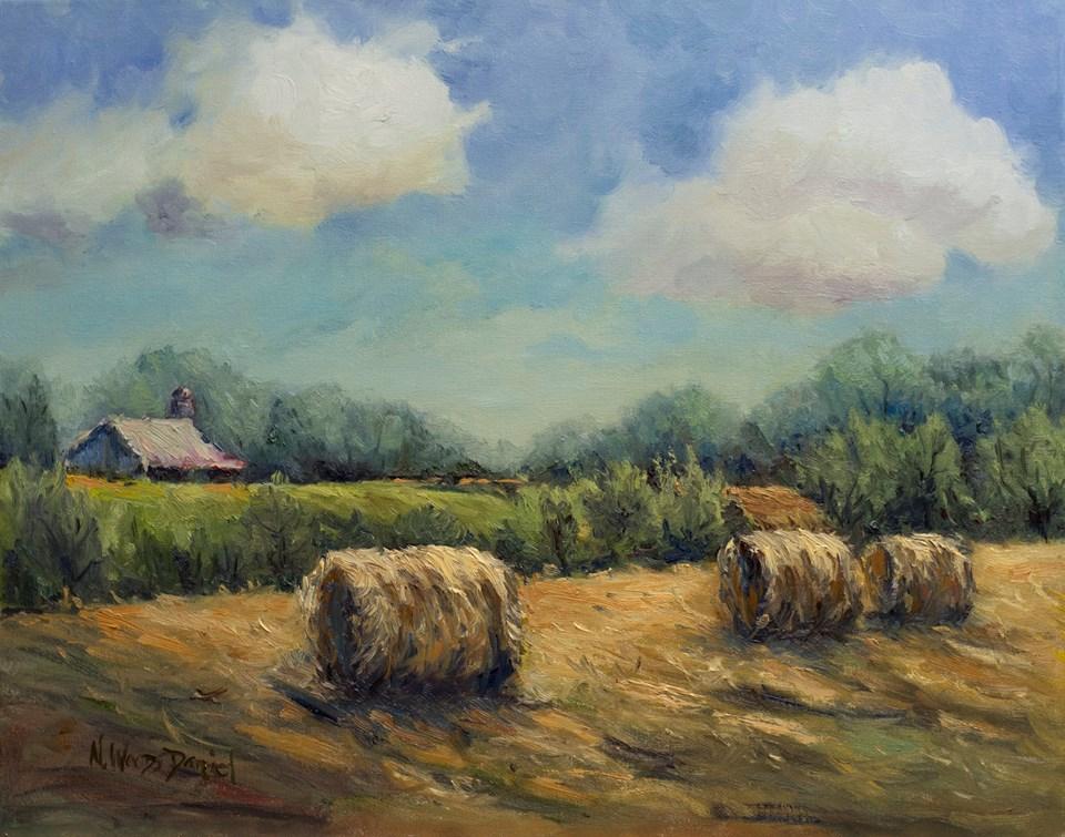 Nancy Woods Daniel - Late Summer Hay Field, East Tennessee