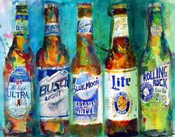 Dorrie Rifkin - Five Beer Bottles