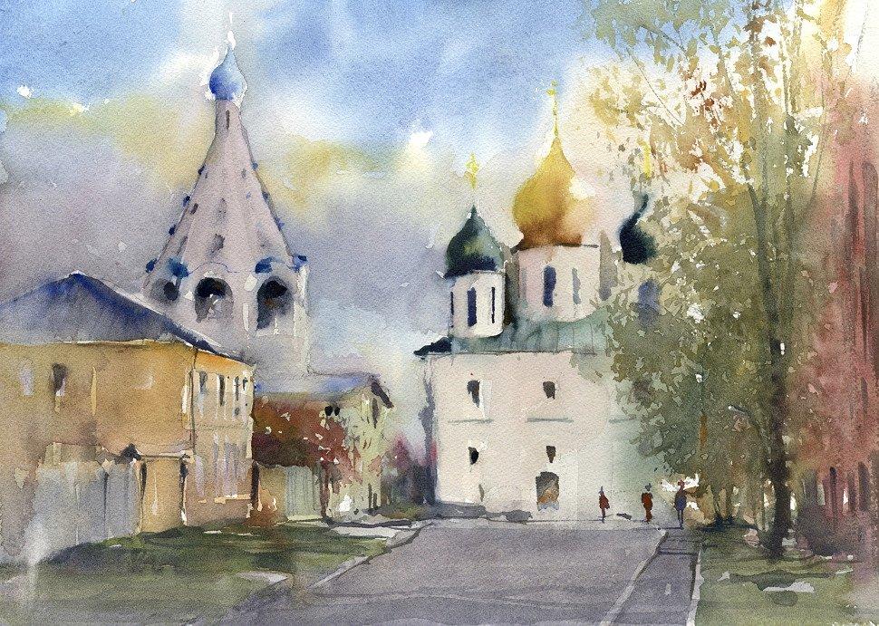 Vladimir Tuporshin - Kolomna. Kremlin. View of the Temple