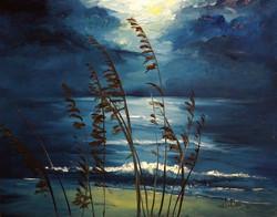 Alan Lakin - Sea Oats and Moonlight