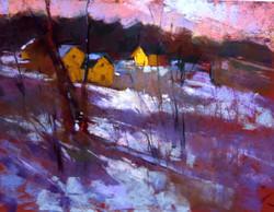 Aline Ordman - Snow, Pastel Demo Landscape