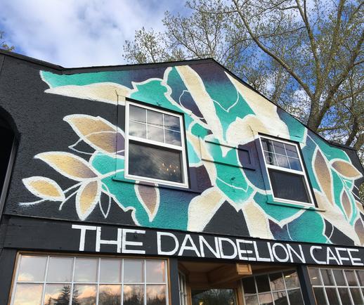Ty Hochhalter Mural Artist Dandelion Cafe YYC