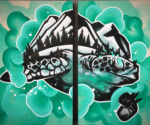 Tyler Hochhalter Painting YYC Art