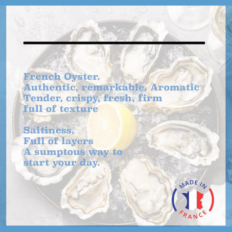 Enjoying French Oysters