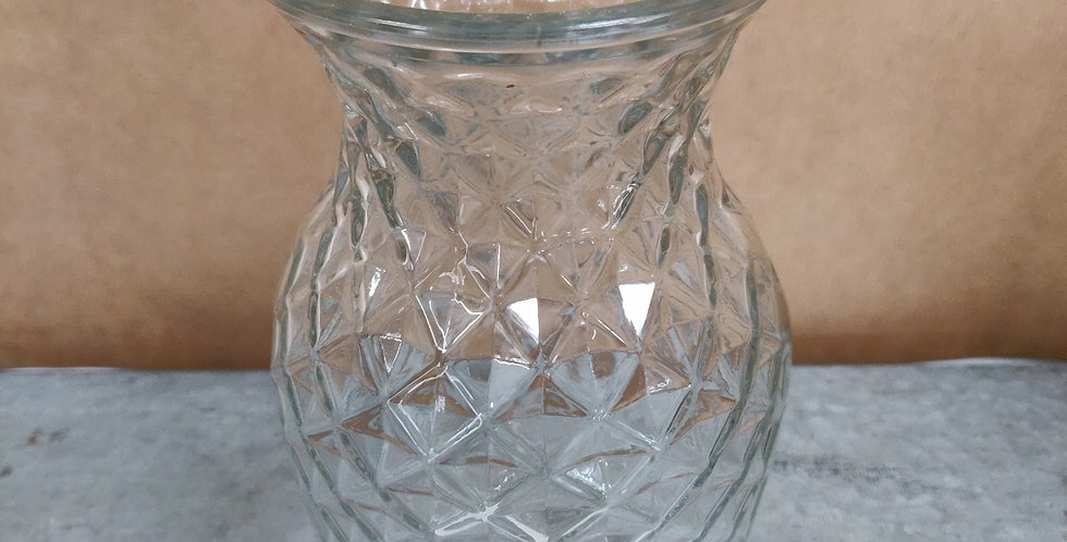 Patterned Glass Vase