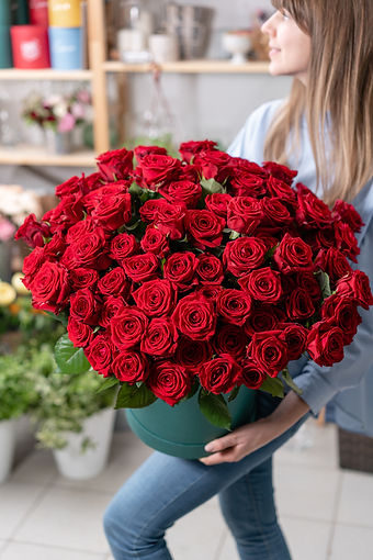 Big luxury bright bouquet in the hands o