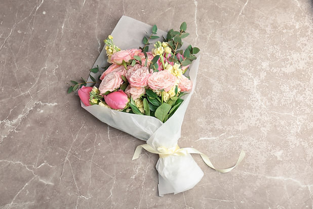 Bouquet of beautiful fragrant flowers on