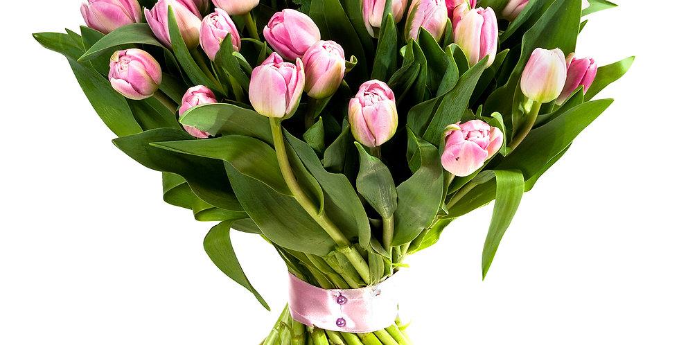 Hand tie of Tulips