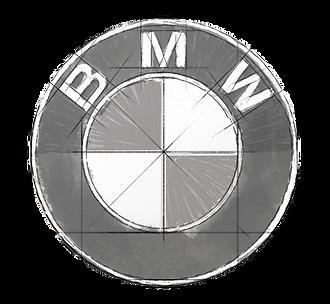BMW logo sketch
