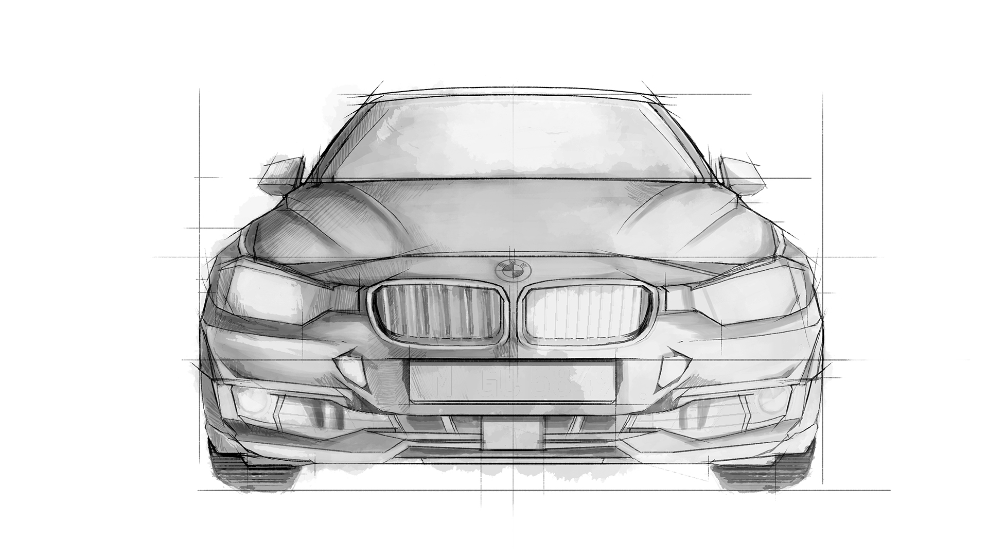 BMW FRONT Design ad banners