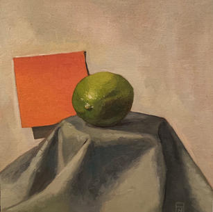Study of a Lime with a Post-it Note