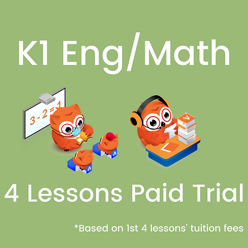 K1 - P1 Preparatory Programme - 4 Lessons Paid Trial