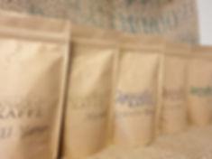 Påsar med kaffebönor från Qvarsebo Kaffe