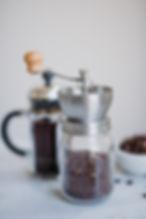 fika med kaffe och en fransk kaffepress